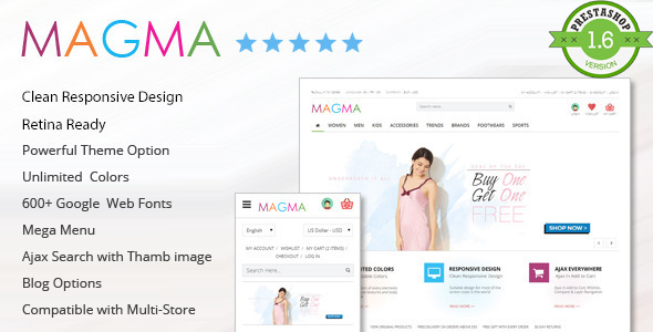 MAGMA – Fashion Responsive PrestaShop Template