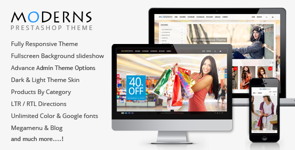 Moderns – Fullscreen Background PrestaShop Theme
