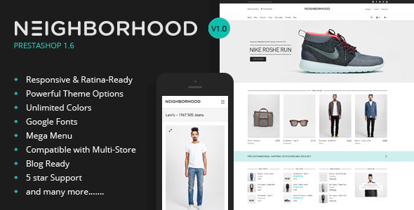 Neighborhood – Responsive PrestaShop Theme