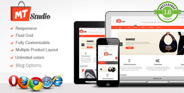 MT Studio : Fluid Responsive PrestaShop Theme