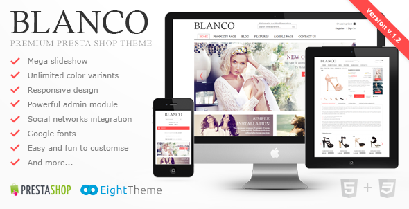 Blanco – Fluid Responsive PrestaShop Theme