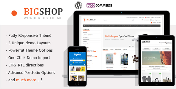 The Bigshop – WooCommerce WordPress Theme!
